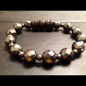 Men's bracelet: Hematite by ANena Jewelry